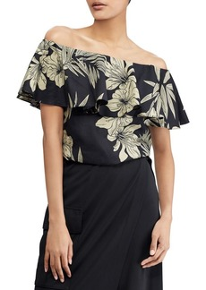 Ralph Lauren: Polo Polo Ralph Lauren Floral Off-The-Shoulder Top
