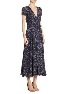 Polo Ralph Lauren Floral-Print Cotton Wrap Dress