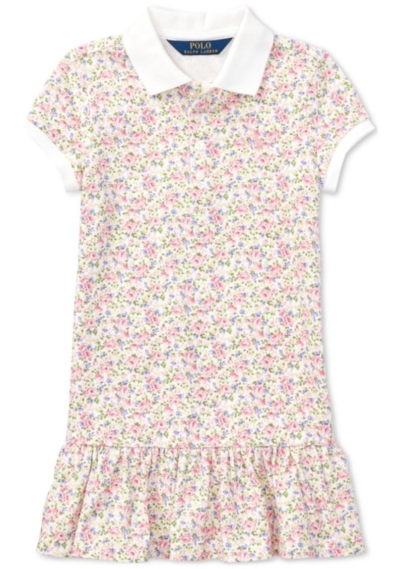 f72a8451a ... real polo ralph lauren floral print polo dress toddler girls 8630b 36295