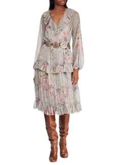 Ralph Lauren: Polo Polo Ralph Lauren Floral-Print Silk Dress