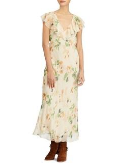 Ralph Lauren: Polo Polo Ralph Lauren Floral-Print Silk Maxidress