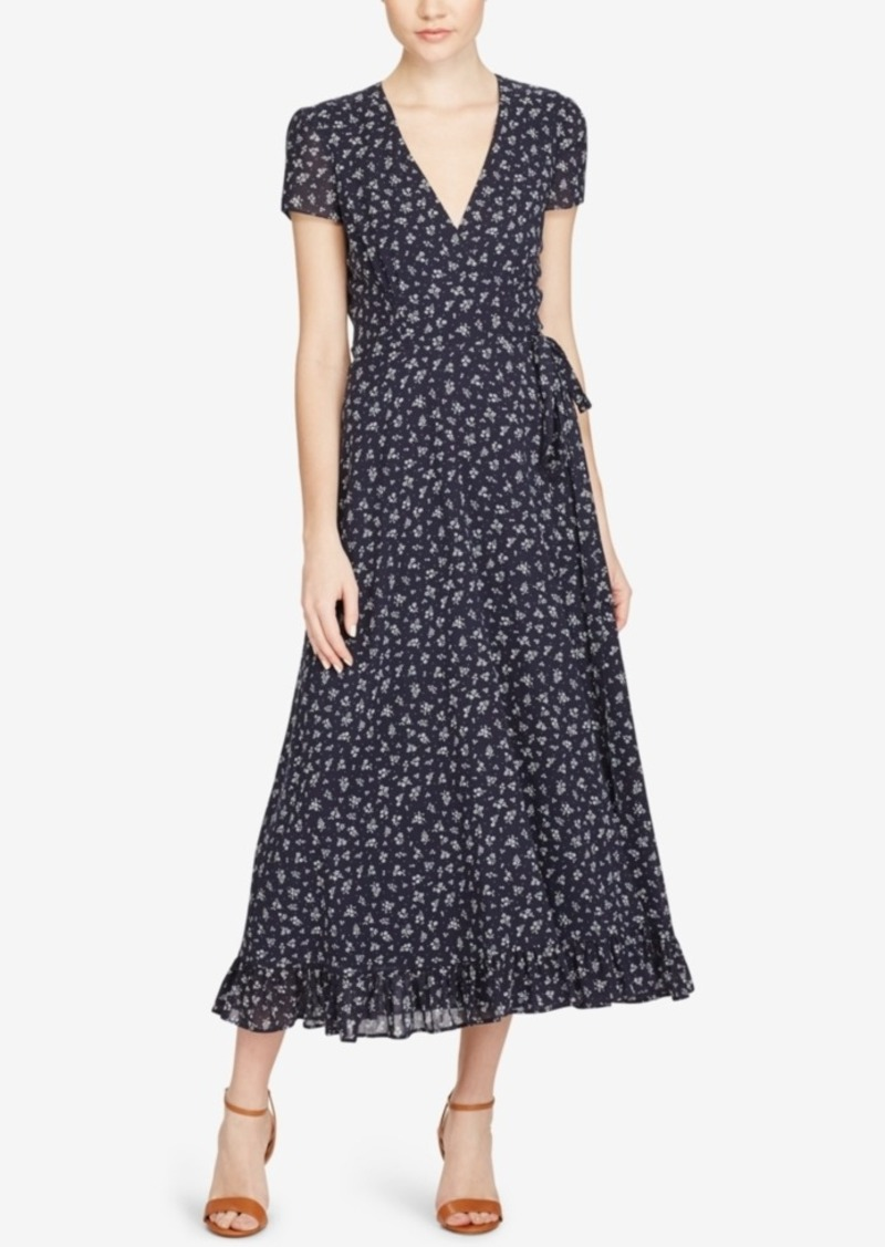 Ralph Lauren Polo Polo Ralph Lauren Floral Print Wrap Dress Abva E Zoom on Leather Belts Mens Dress