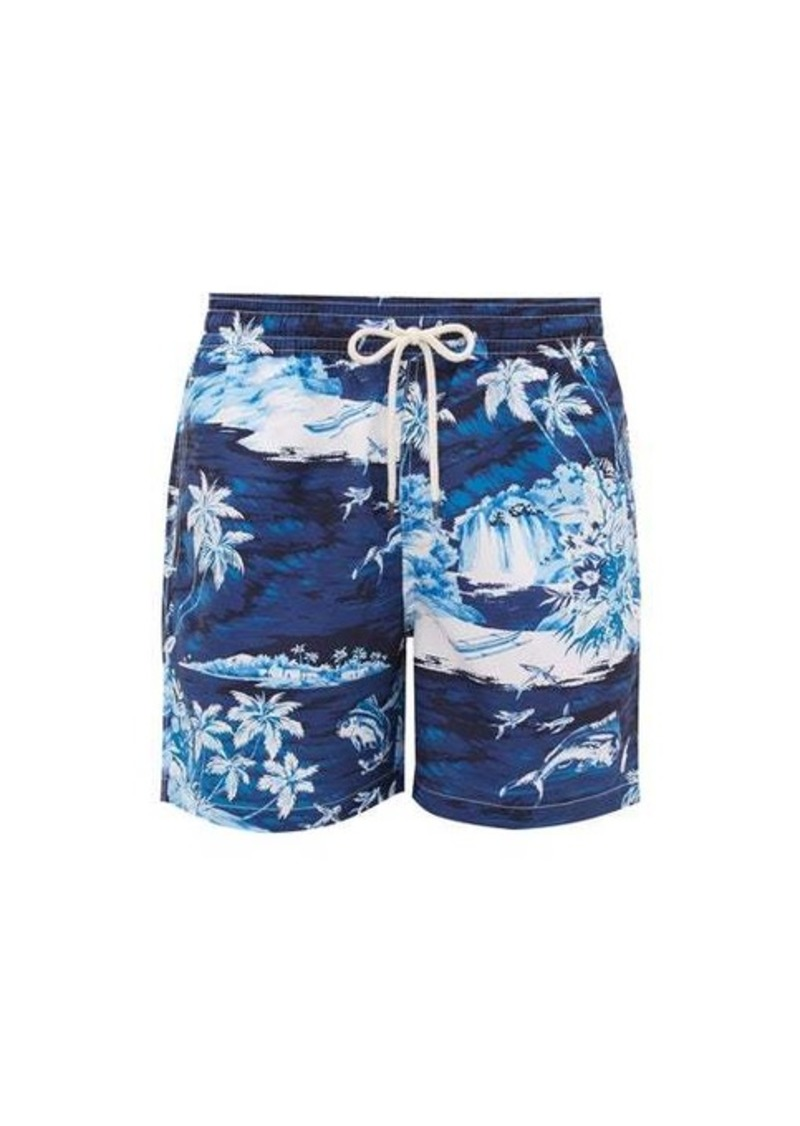 Ralph Lauren Polo Polo Ralph Lauren Flying Fish tropical wave-print swim shorts