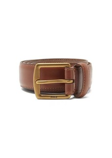 Ralph Lauren Polo Polo Ralph Lauren Foiled-logo leather belt