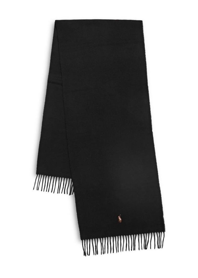 Ralph Lauren Polo Polo Ralph Lauren Fringed Virgin Wool Scarf