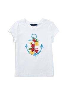 Ralph Lauren: Polo Polo Ralph Lauren Girls' Anchor Graphic Tee - Big Kid