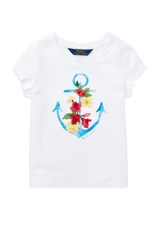 Ralph Lauren: Polo Polo Ralph Lauren Girls' Anchor Graphic Tee - Little Kid