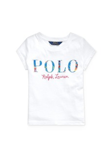 Ralph Lauren: Polo Polo Ralph Lauren Girls' Appliqu�d Logo Tee - Little Kid