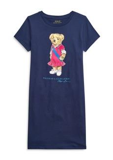 Ralph Lauren: Polo Polo Ralph Lauren Girls' Bear Tee Dress - Big Kid