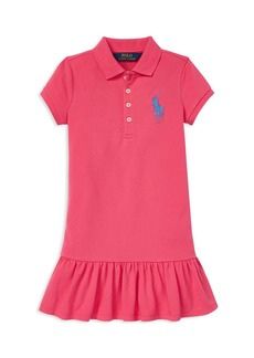 Ralph Lauren: Polo Polo Ralph Lauren Girls' Big Pony Drop-Waist Polo Dress - Little Kid