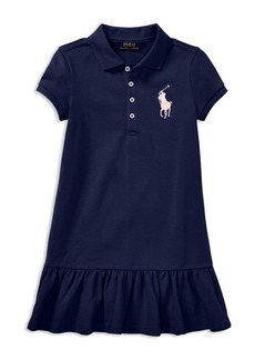 Ralph Lauren: Polo Polo Ralph Lauren Girls' Big Pony Polo Shirt Dress - Little Kid