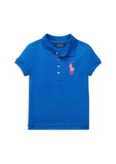 Ralph Lauren: Polo Polo Ralph Lauren Girls' Big Pony Stretch-Mesh Polo Shirt - Little Kid