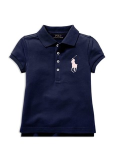 Ralph Lauren: Polo Polo Ralph Lauren Girls' Big Pony Stretch Polo - Little Kid