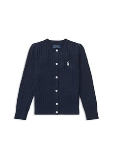 Ralph Lauren: Polo Polo Ralph Lauren Girls' Cable-Knit Cardigan - Little Kid