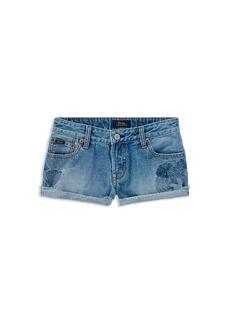 Ralph Lauren: Polo Polo Ralph Lauren Girls' Cactus-Embroided Denim Shorts - Big Kid