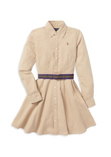 Ralph Lauren: Polo Polo Ralph Lauren Girls' Chino Shirt Dress with Belt - Little Kid