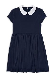Ralph Lauren: Polo Polo Ralph Lauren Girls' Collared Crepe Dress - Big Kid