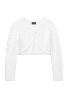 Ralph Lauren: Polo Polo Ralph Lauren Girls' Combed-Cotton Cardigan - Big Kid