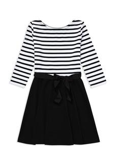 Ralph Lauren: Polo Polo Ralph Lauren Girls' Contrast Striped Dress - Big Kid
