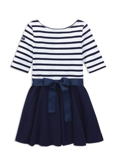 Ralph Lauren: Polo Polo Ralph Lauren Girls' Contrast Striped Dress - Big Kid