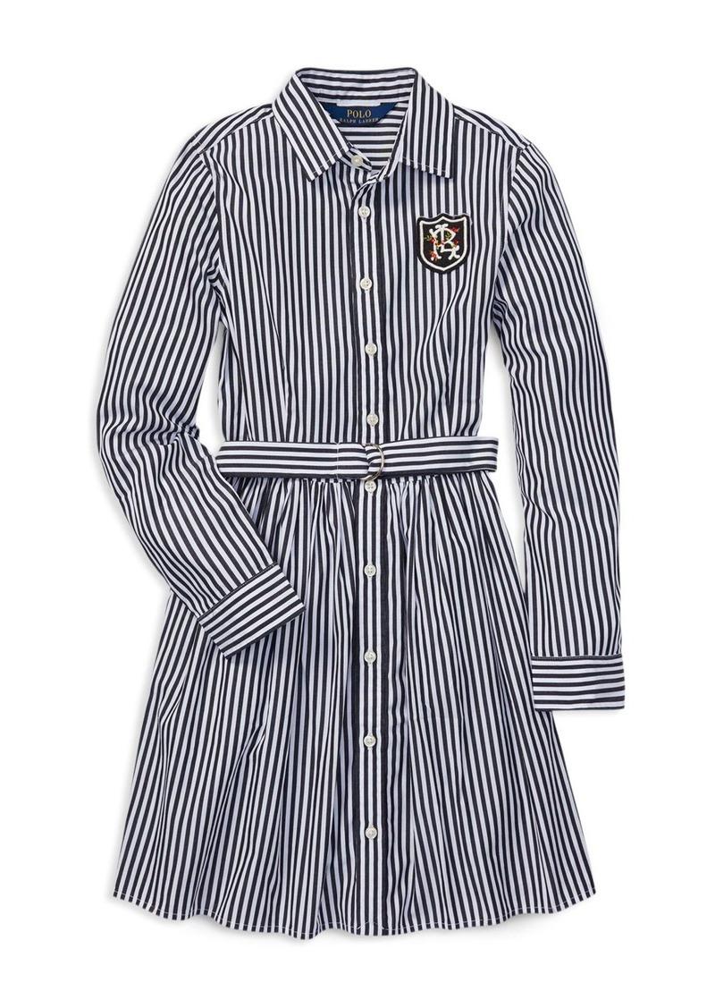 d917e7547 Ralph Lauren: Polo Polo Ralph Lauren Girls' Cotton Bengal Stripe Dress with  Belt - Big Kid