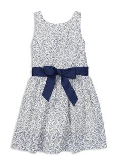 Ralph Lauren: Polo Polo Ralph Lauren Girls' Cotton Floral Dress with Sash - Little Kid