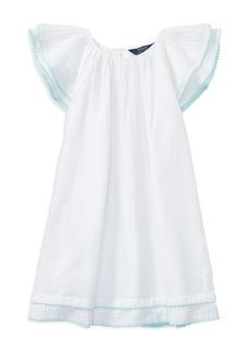 Ralph Lauren: Polo Polo Ralph Lauren Girls' Cotton Gauze Flutter-Sleeve Dress - Big Kid
