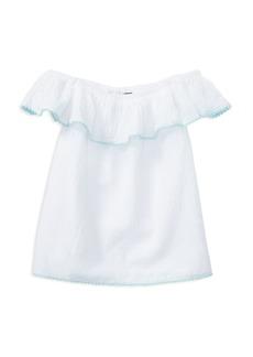 Ralph Lauren: Polo Polo Ralph Lauren Girls' Cotton Gauze Off-the-Shoulder Top - Big Kid
