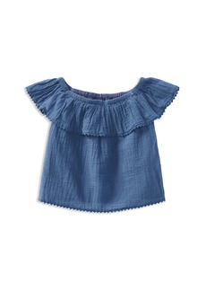 Ralph Lauren: Polo Polo Ralph Lauren Girls' Cotton Gauze Off-the-Shoulder Top - Little Kid