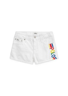 Ralph Lauren: Polo Polo Ralph Lauren Girls' Cotton Polo Denim Shorts - Big Kid