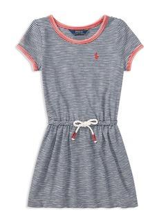 Ralph Lauren: Polo Polo Ralph Lauren Girls' Striped Cotton Shirt Dress - Little Kid