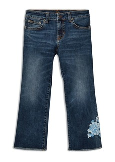 Ralph Lauren: Polo Polo Ralph Lauren Girls' Cropped Flared Embroidered Jeans - Big Kid