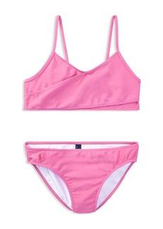 Ralph Lauren: Polo Polo Ralph Lauren Girls' Crossover 2-Piece Swimsuit - Big Kid