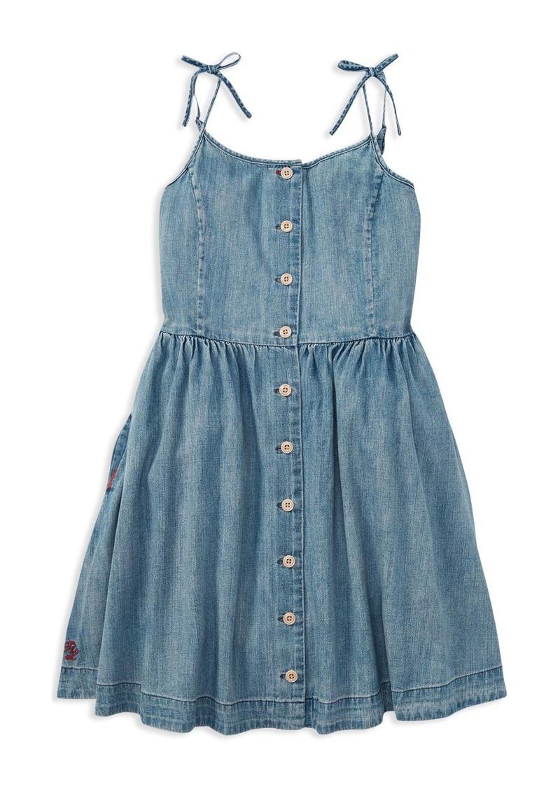 95c85d5e9 Ralph Lauren: Polo Polo Ralph Lauren Girls' Denim Dress - Big Kid ...