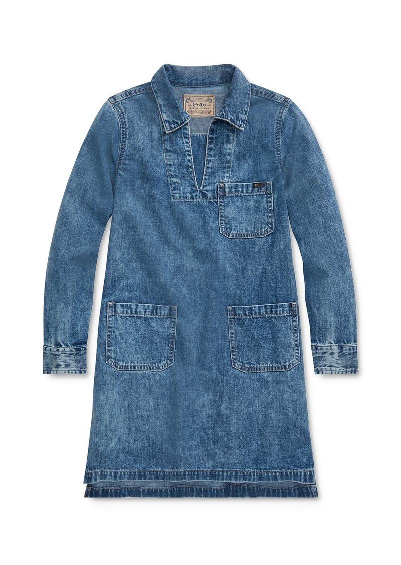 Ralph Lauren: Polo Polo Ralph Lauren Girls' Denim Dress - Big Kid