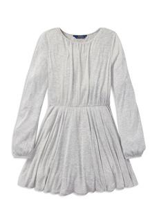 Ralph Lauren: Polo Polo Ralph Lauren Girls' Dotted Jersey Dress - Big Kid