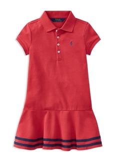 Ralph Lauren: Polo Polo Ralph Lauren Girls' Drop-Waist Polo Dress - Little Kid