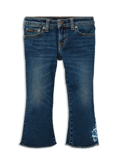 Ralph Lauren: Polo Polo Ralph Lauren Girls' Embroidered Cropped Flared Jeans - Little Kid