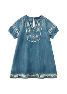 Ralph Lauren: Polo Polo Ralph Lauren Girls' Embroidered Denim Dress - Big Kid