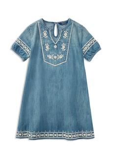 Ralph Lauren: Polo Polo Ralph Lauren Girls' Embroidered Denim Dress - Little Kid