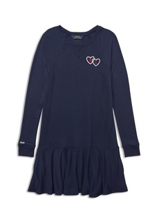 Ralph Lauren: Polo Polo Ralph Lauren Girls' Embroidered French Terry Sweater Dress - Big Kid