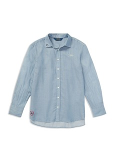 Ralph Lauren: Polo Polo Ralph Lauren Girls' Embroidered Shirt - Big Kid