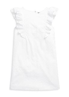 Ralph Lauren: Polo Polo Ralph Lauren Girls' Eyelet Ruffle Dress - Big Kid