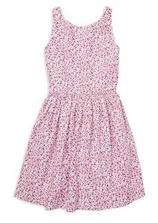 Ralph Lauren: Polo Polo Ralph Lauren Girls' Fit-and-Flare Floral Dress - Big Kid