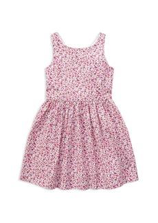 Ralph Lauren: Polo Polo Ralph Lauren Girls' Fit-and-Flare Floral Dress - Little Kid