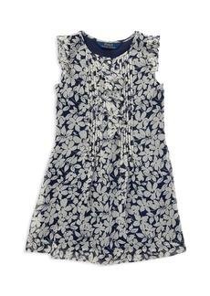 Ralph Lauren: Polo Polo Ralph Lauren Girls' Floral Chiffon Dress - Little Kid