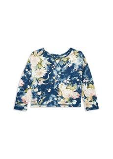 Ralph Lauren: Polo Polo Ralph Lauren Girls' Floral French Terry Sweatshirt - Little Kid