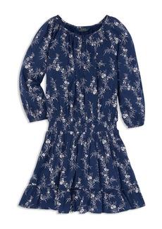 Ralph Lauren: Polo Polo Ralph Lauren Girls' Floral Gauze Boho Dress - Big Kid