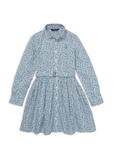 Ralph Lauren: Polo Polo Ralph Lauren Girls' Floral Shirt Dress with Belt - Big Kid