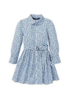Ralph Lauren: Polo Polo Ralph Lauren Girls' Floral Shirt Dress with Belt - Little Kid